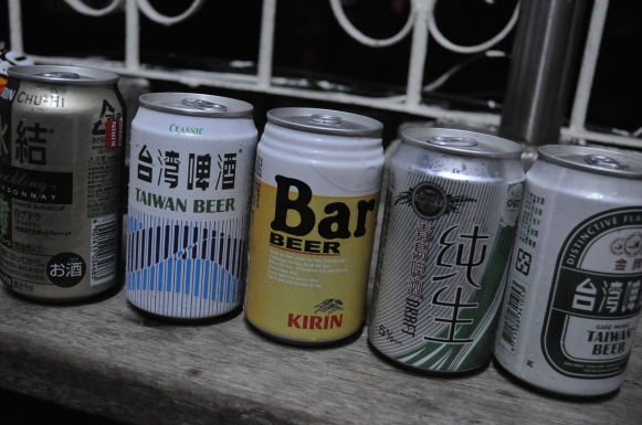 A first sampling of Taiwan beer