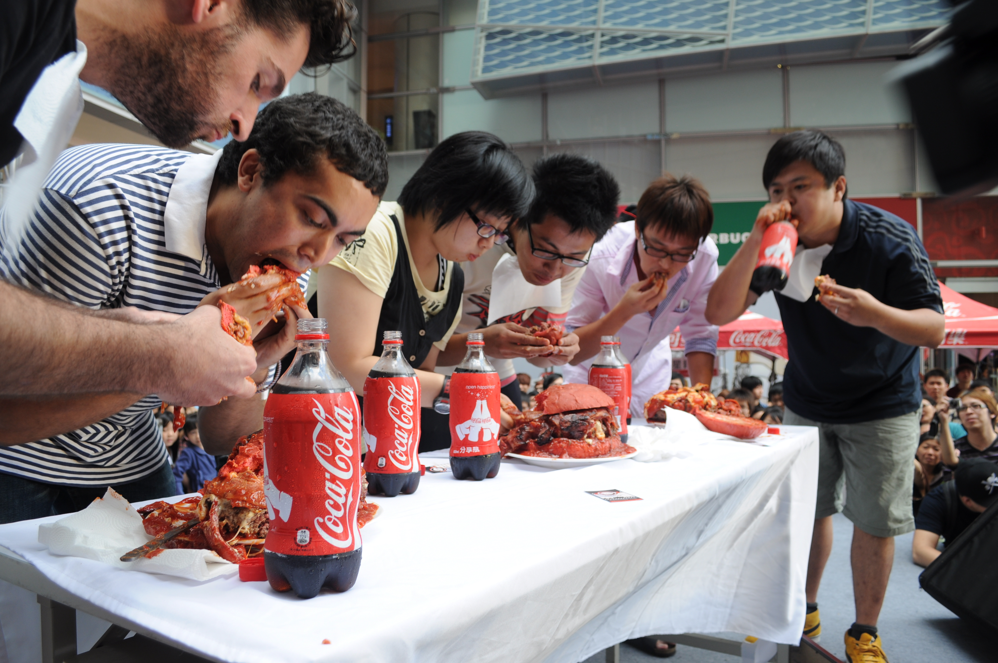 Competitive Eating Wasting Food