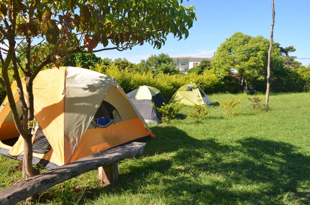 Free camping in Dulan.