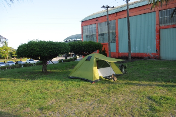 "The ""campsite"" we got booted out of."